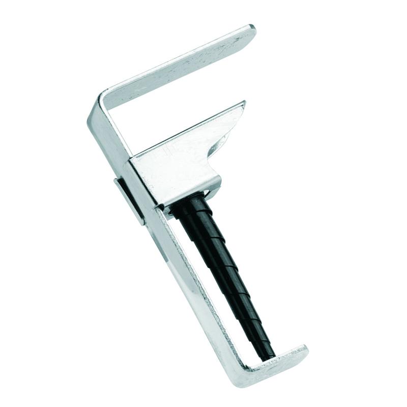Клипса для скатерти Gefu, для раздвижных столов, 4 шт22250Клипсы для крепления скатерти Gefu изготовлены из никелированной стали и пластика. Специальная пружинная конструкция позволяет использовать клипсы на раздвижных столах с толщиной столешницы от 19 до 45 мм. В комплекте - 4 клипсы.