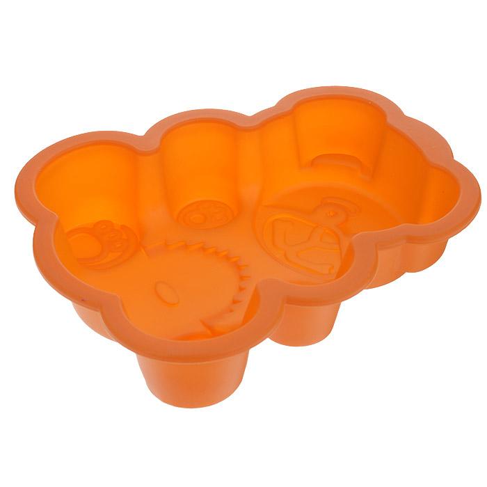Форма для выпечки Мишка, цвет: оранжевый. 842-022842-022Форма для выпечки Мишка изготовлена из силикона - материала, который выдерживает температура от -22°С до +250°С. Изделия из силикона очень удобны в использовании: пища в них не пригорает и не прилипает к стенкам, легко моется. Изделие обладает эластичными свойствами: складывается без изломов, восстанавливает свою первоначальную форму. Выпечку легко извлечь, вывернув форму на изнанку. Не требует смазывания маслом.Подходит для приготовления в микроволновой печи и духовом шкафу при нагревании до +250°С; для замораживания до -22°С и чистки в посудомоечной машине. Рекомендации по использованию: - не помещайте форму непосредственно на источник тепла (открытый огонь, гриль), - не используйте нож для резки продуктов в форме, - не используйте для чистки абразивные средства, скребки и щетки.