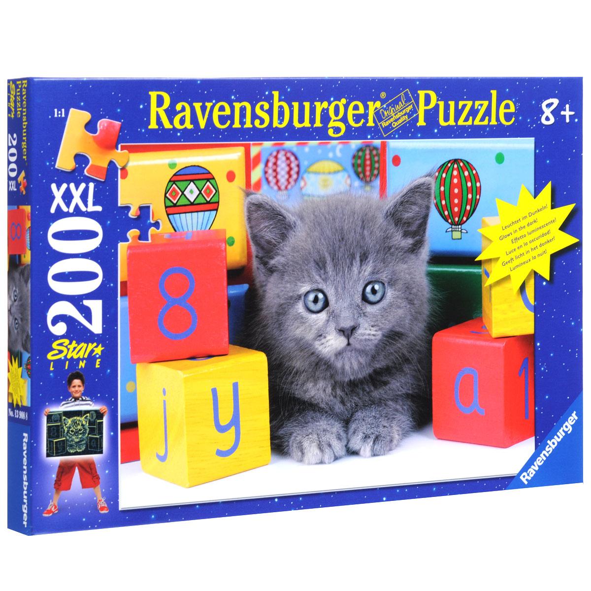 Ravensburger Котенок с кубиками. Пазл XXL, 200 элементов