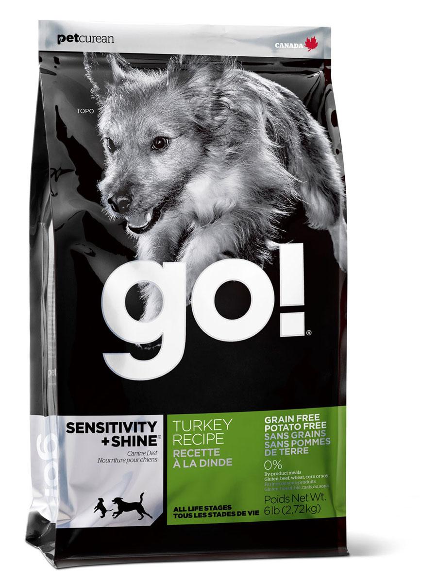 Корм сухой Go! для щенков и собак с чувствительным пищеварением, беззерновой, с индейкой, 11,35 кг1212Корм Go! - это полноценный корм обогащенный питательными веществами, обеспечивающий здоровье и активность вашего питомца на протяжении всей его жизни. В качестве основного источника углеводов используется чечевица, а не картофель, поэтому корм идеально подходит для собак чувствительных к картофелю (крахмалу) или при беззерновой диете. Основным источником белка является мясо индейки, что отлично подходит для собак с пищевой аллергией. Ключевые преимущества: - Единственный источник белка - мясо индейки, - Беззерновой, - Прибиотики и пробиотики нормализуют работу кишечника и улучшают работу пищеварительной системы, - Жирные Омега кислоты - здоровье и блеск шерсти, - Поддержка иммунной системы за счет фруктов и овощей богатых антиоксидантами, - Полное отсутствие субпродуктов, ГМО, искусственных консервантов, глютена, говядины, пшеницы, кукурузы и сои. Состав: свежее мясо индейки, филе индейки, горох, тапиока, каноловое масло (с Витамином Е в качестве консерванта), яичный порошок, гороховая клетчатка, натуральный ароматизатор, чечевица, хлорид калия, тыква, морковь, бананы, черника, клюква, брокколи, ежевика, папая, ананас, шпинат, домашний творог, сухие водоросли, сушеный корень цикория, холин хлорид, лецитин, Lactobacillus acidophilus, Enterococcus faecium, Aspergillus niger, Aspergillus oryzae, витамины (витамин А, витамин D3, витамин Е, инозитол, ниацин, L-аскорбил-2-полифосфатов (источник витамина С), D-пантотенат кальция, мононитрат тиамина, бета-каротин, рибофлавин, пиридоксин гидрохлорид, фолиевая кислота , биотин, витамин В12), минералы (цинк метионин комплекс, протеинат цинка, протеинат железа, протеинат меди, оксид цинка, протеинат марганца, сульфат меди, сульфат железа, йодат кальция, оксид марганца, селена, дрожжи), хлорид натрия, таурин, экстракт Юкка Шидигера, сушеный розмарин, дрожжевой экстракт. Анализ: белки (min) 30%, жиры (min) 16%, клетчатка (max) 3%