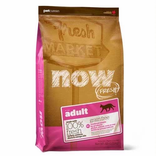 """Корм сухой Now """"Natural Holistic"""" беззерновой, для взрослых кошек, с индейкой, уткой и овощами, 7,26 кг"""