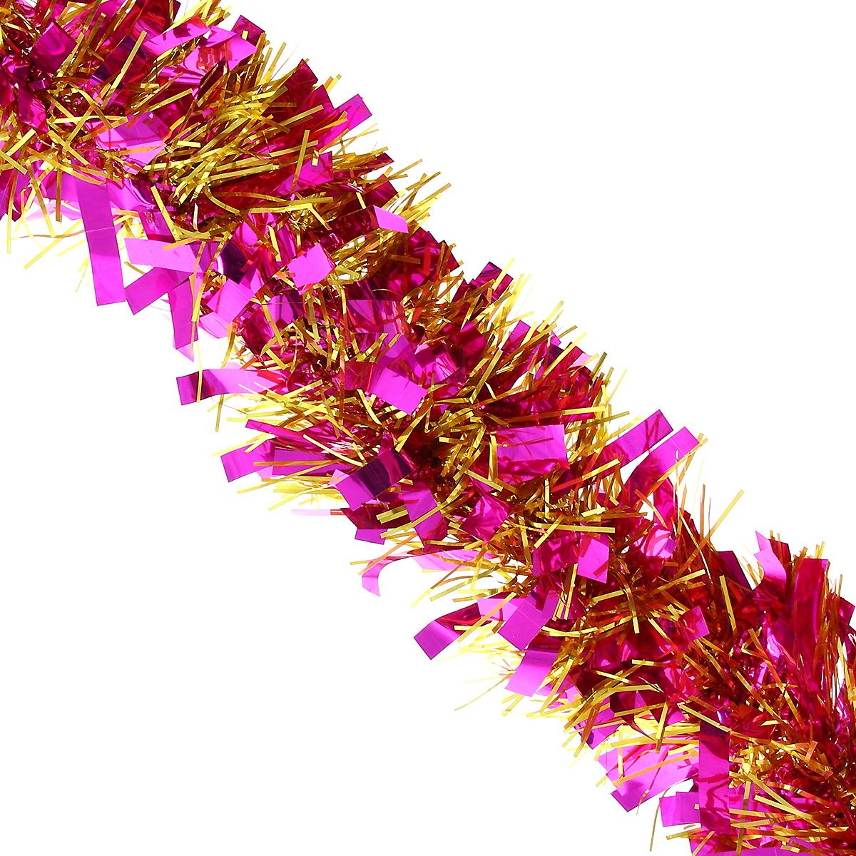 Мишура новогодняя Magic Time, диаметр 9 см, длина 200 см, цвет: фиолетовый, золотистый. 26967