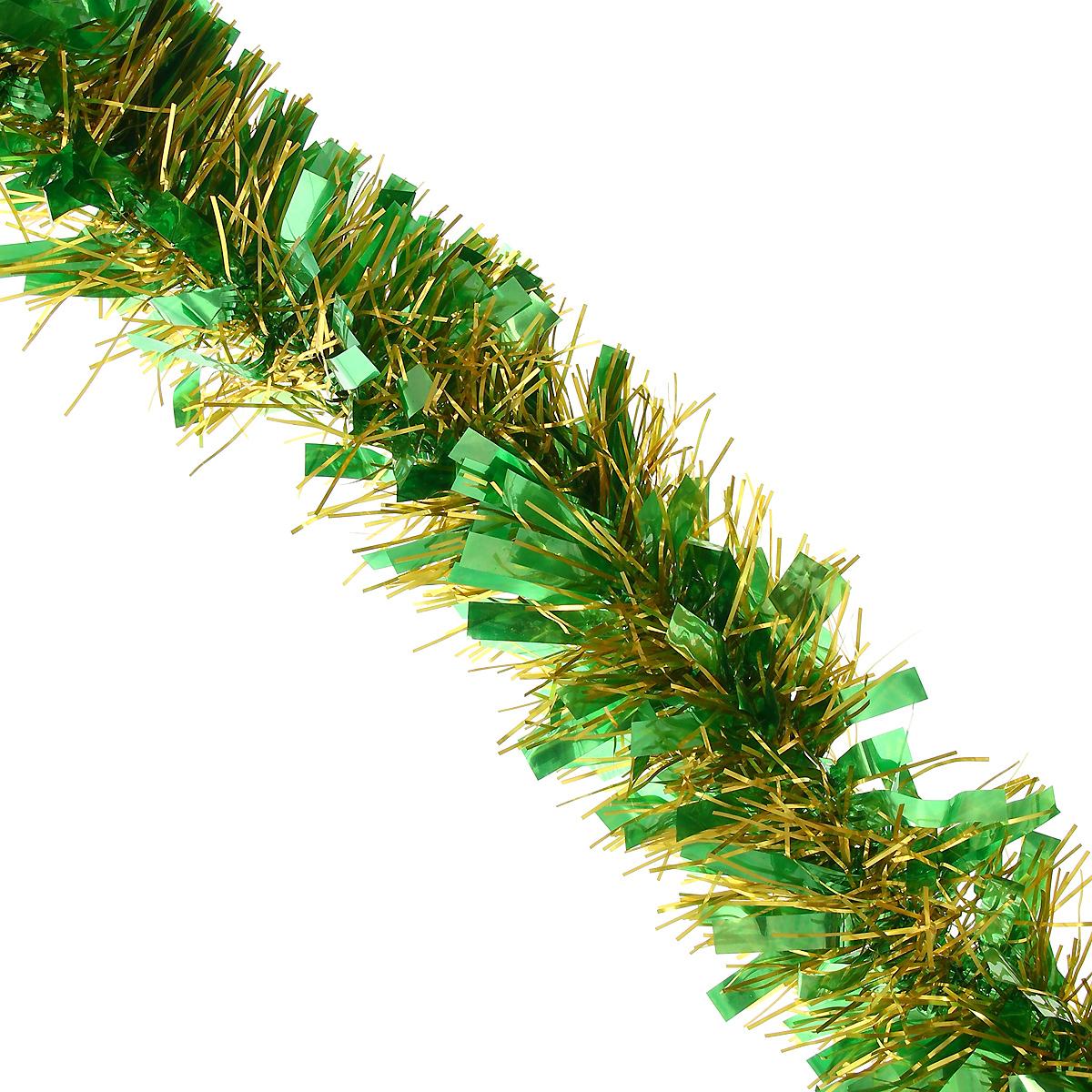 Мишура новогодняя Magic Time, диаметр 9 см, длина 200 см, цвет: зеленый, желтый. 2696626966Новогодняя мишура Magic Time, выполненная из ПЭТ (Полиэтилентерефталат), поможет вам украсить свой дом к предстоящим праздникам. Изделие выполнено в виде скрученной косички. Новогодняя елка с таким украшением станет еще наряднее. Мишура армирована, то есть имеет проволоку внутри и способна сохранять форму. Новогодней мишурой можно украсить все, что угодно - елку, квартиру, дачу, офис - как внутри, так и снаружи. Можно сложить новогодние поздравления, буквы и цифры, мишурой можно украсить и дополнить гирлянды, можно выделить дверные колонны, оплести дверные проемы. Коллекция декоративных украшений из серии Magic Time принесет в ваш дом ни с чем несравнимое ощущение волшебства! Создайте в своем доме атмосферу тепла, веселья и радости, украшая его всей семьей.