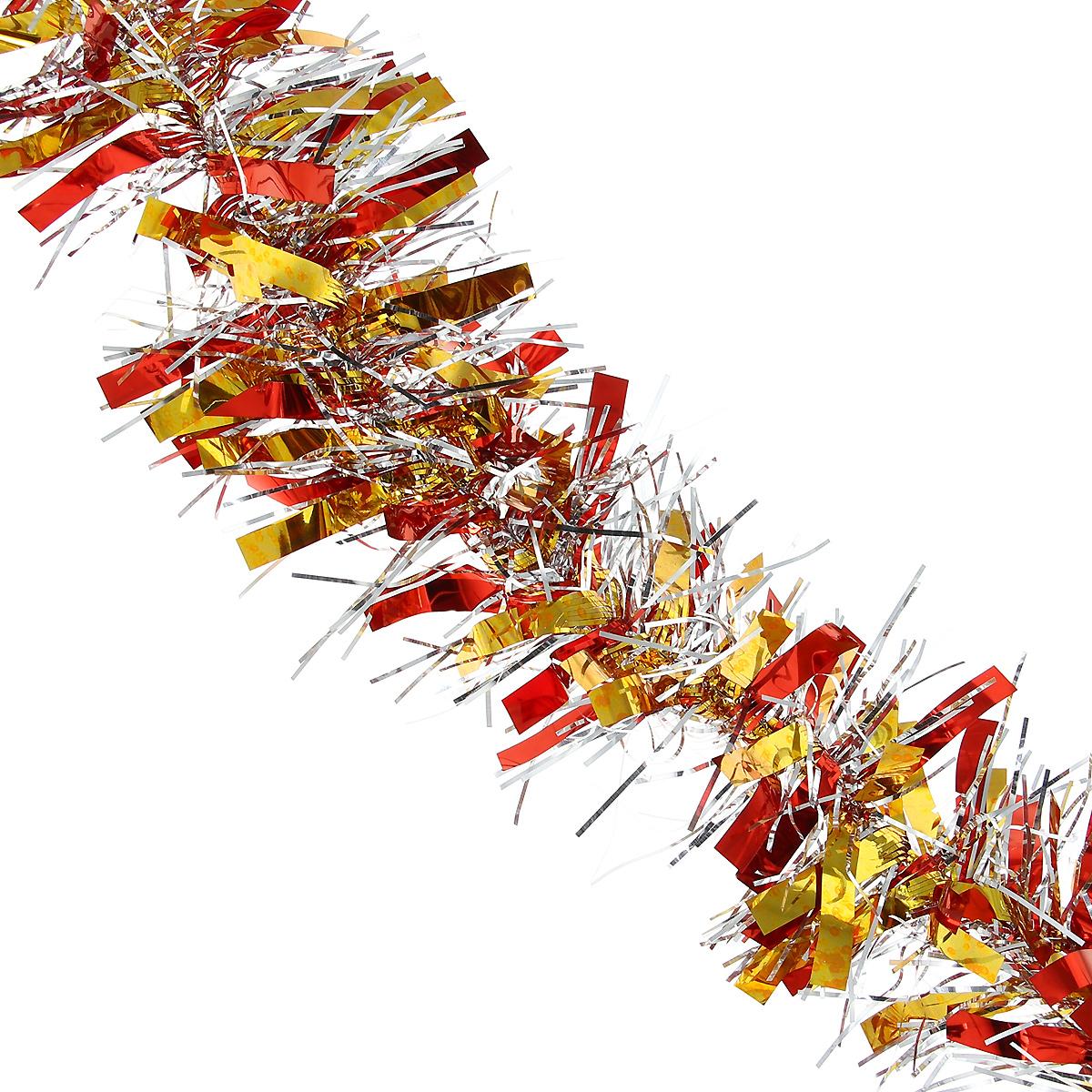 Мишура новогодняя Magic Time, диаметр 9 см, длина 200 см, цвет: коричневый, золотистый. 34905 мишура новогодняя magic time цвет золотистый диаметр 6 см длина 200 см 75763
