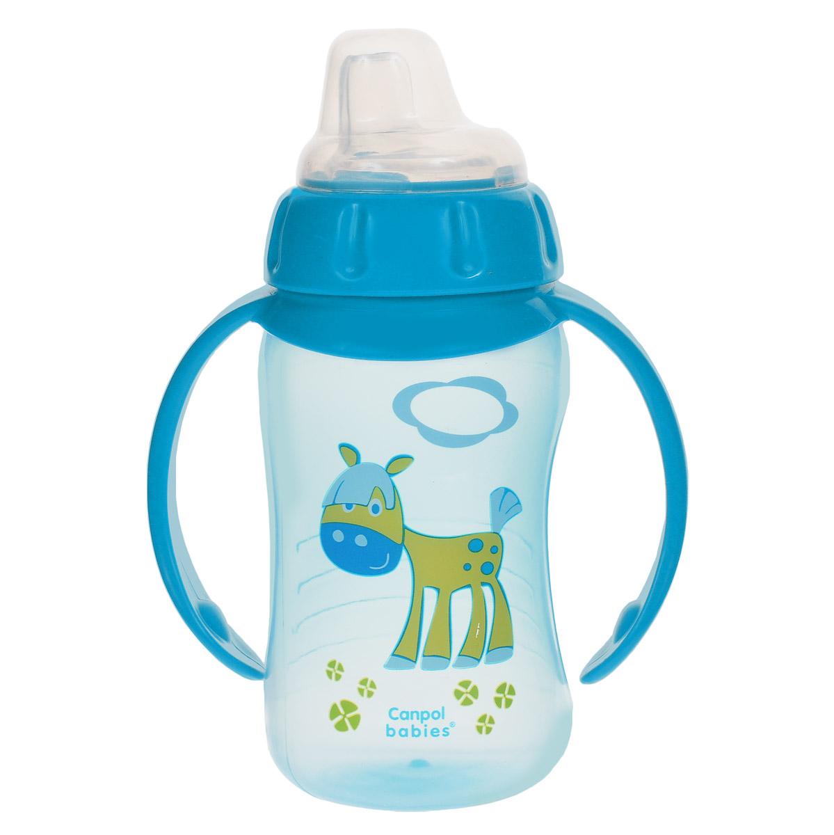 Canpol Babies Поильник с силиконовым носиком от 6 месяцев цвет синий 320 мл canpol поильник спортивный с трубочкой