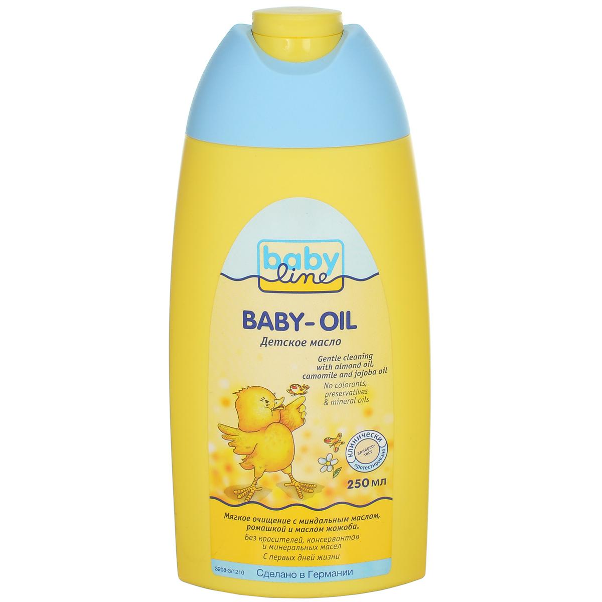 BabyLine Масло детское, с миндальным маслом, ромашкой и маслом жожоба, 250 мл208031
