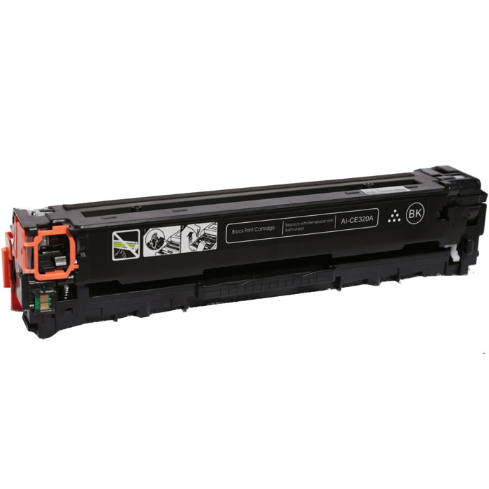 HP CE320A (128A) тонер-картридж для HP CLJ CP1520/CM1410, Black hp ce322a yellow тонер картридж для hp clj cp1525n 1525nw cm1415fn
