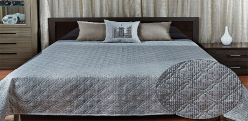 """Покрывало Primavelle """"Livia"""", цвет: серый, 240 см х 240 см"""