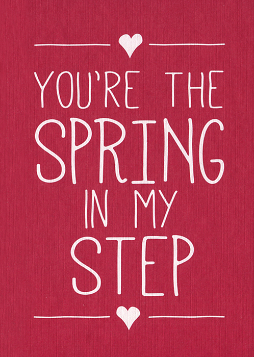 You're the Spring In My Step spring king spring king tell me if you like to page 1 page 1