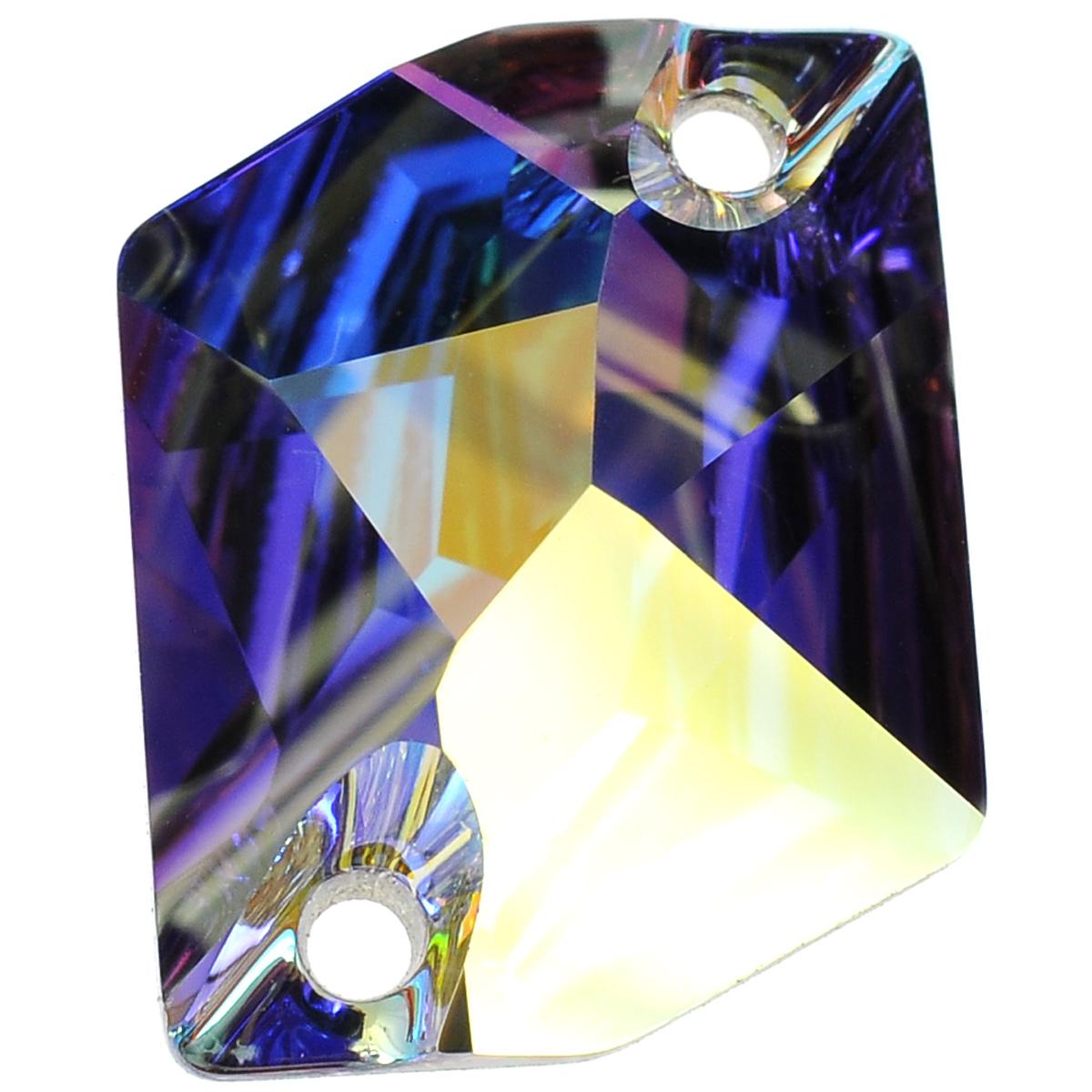 Камень нашивной Swarovski Elements, цвет: перламутровый (crystal AB), 20 мм х 16 мм zu elements zu003emnsw70