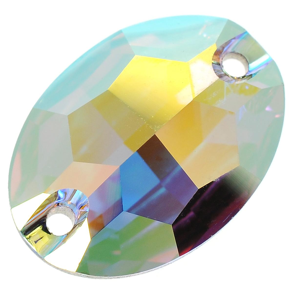 Камень нашивной Swarovski Elements, 16 х 11 мм691212Нашивной камень Swarovski Elements может быть пришит на любой тип ткани или принадлежностей. Имеется 2 отверстия для пришивания. Украшения, созданные своими руками, подчеркнут образ вашей маленькой модницы или послужат чудесным подарком для друзей и близких.