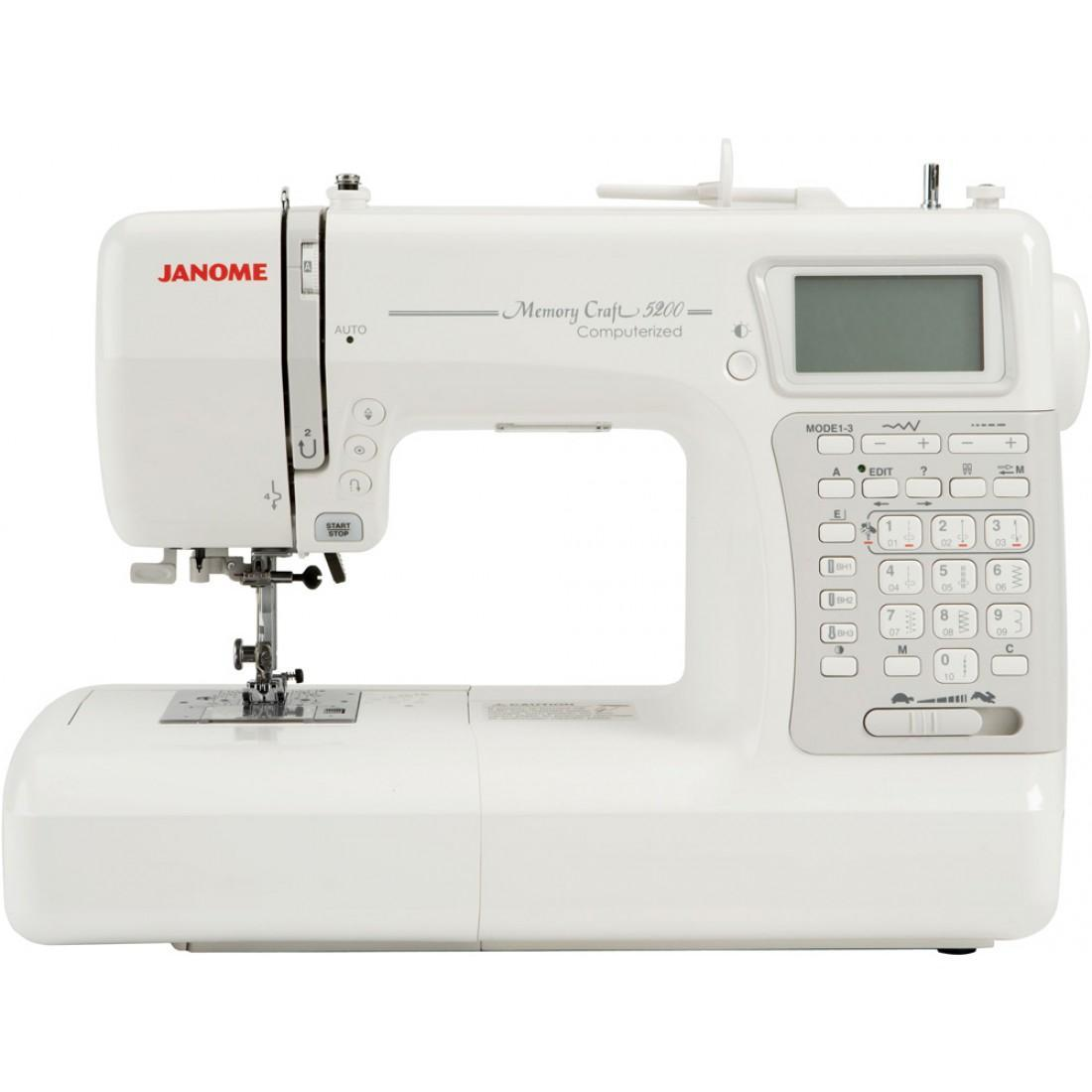 Janome Memory Craft 5200 HC, White швейная машина janome memory craft 12000