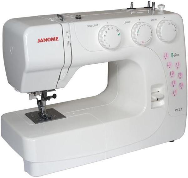 Janome PX-21, White швейная машина швейная машина janome px 21 белый