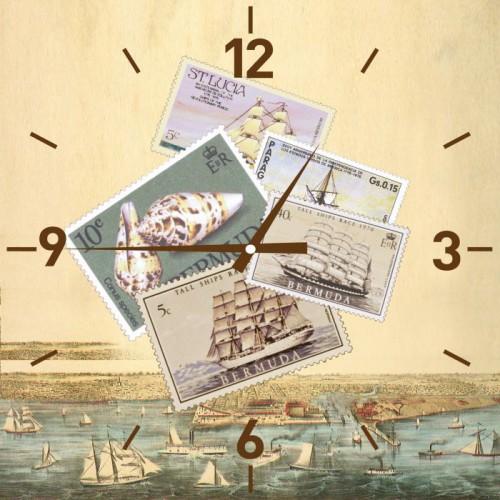Часы настенные Марки, кварцевые. 2781127811Настенные кварцевые часы Марки своим эксклюзивным дизайном подчеркнут оригинальность интерьера вашего дома.Часы выполнены из стекла и оформлены изображением марок. Тип индикации - римские цифры и отметки. Часы имеют две стрелки - часовую и минутную. С задней стороны имеется петелька для подвешивания на стену.Для кухни, гостиной, прихожей или дачи -вы обязательно найдете ту модель, которая вам понравится. Часы работают от одной батарейки типа АА мощностью 1,5V (в комплект не входит).Размер корпуса (ДхШ): 30 см х 30 см.Внимание! Уважаемые клиенты, обращаем ваше внимание на тот факт, что циферблат часов не защищен стеклом!