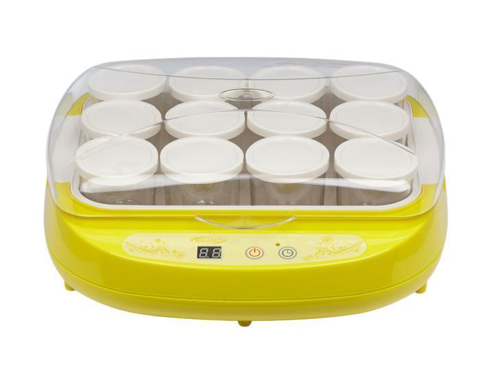Brand 4002, Yellow йогуртница4002 желтаяЙогуртница Brand 4002 поможет приготовить любимый йогурт в домашних условиях. Имеет 12 стеклянных стаканчиков по 200 мл с возможностью установки даты срока годности на крышке.