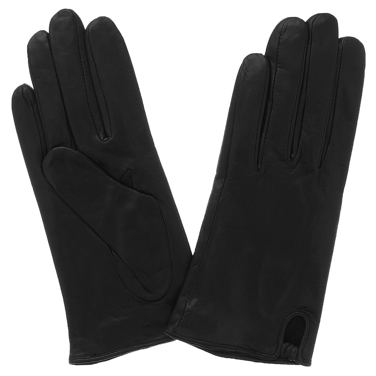 Перчатки женские Dali Exclusive, цвет: черный. 81_NELLA/BL. Размер 7,581_NELLA/BLСтильные перчатки Dali Exclusive с шелковой подкладкой выполнены из мягкой и приятной на ощупь натуральной кожи ягненка.На лицевой стороне предусмотрена небольшая выемка со вставкой из резинки. Такие перчатки подчеркнут ваш стиль и неповторимость.