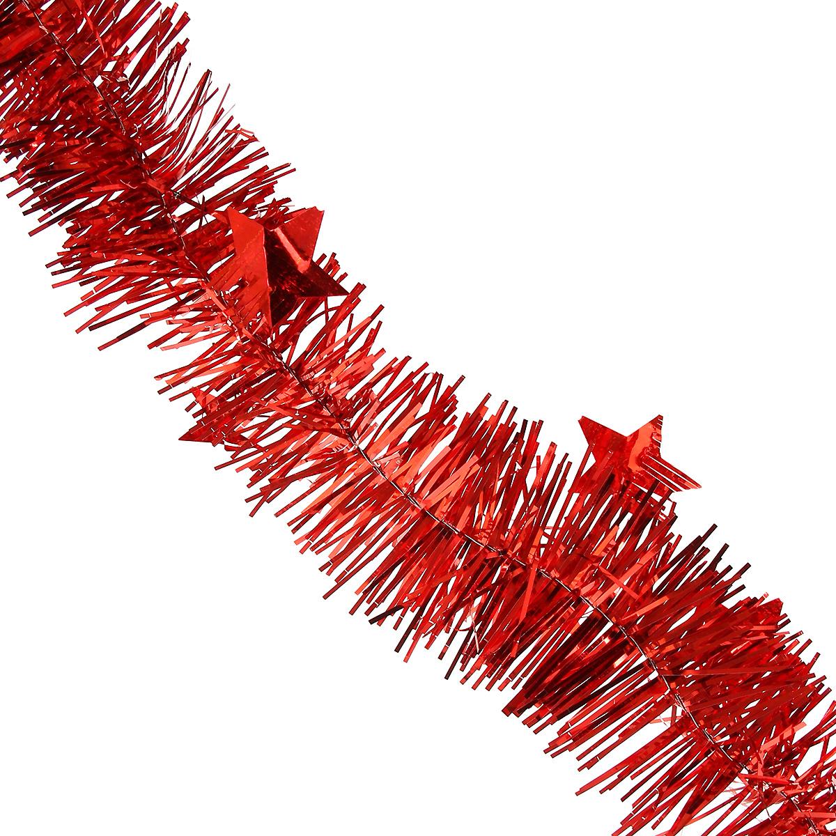 Мишура новогодняя Magic Time, со звездами, диаметр 6 см, длина 200 см, цвет: красный. 3489934899/75765Новогодняя мишура Magic Time, выполненная из ПЭТ (Полиэтилентерефталат), поможет вам украсить свой дом к предстоящим праздникам. Изделие выполнено в виде скрученной косички. Новогодняя елка с таким украшением станет еще наряднее. Мишура армирована, то есть имеет проволоку внутри и способна сохранять форму. Новогодней мишурой можно украсить все, что угодно - елку, квартиру, дачу, офис - как внутри, так и снаружи. Можно сложить новогодние поздравления, буквы и цифры, мишурой можно украсить и дополнить гирлянды, можно выделить дверные колонны, оплести дверные проемы. Коллекция декоративных украшений из серии Magic Time принесет в ваш дом ни с чем несравнимое ощущение волшебства! Создайте в своем доме атмосферу тепла, веселья и радости, украшая его всей семьей.