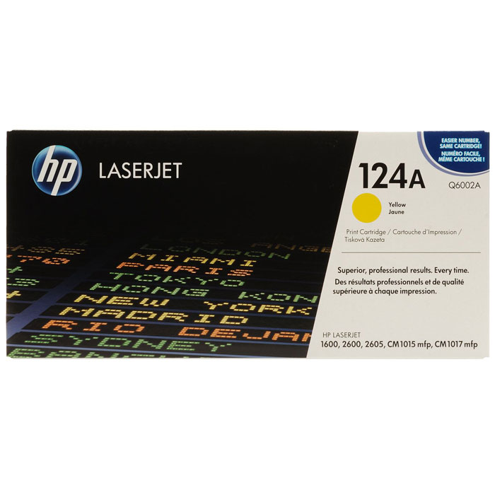 HP Q6002A, Yellow тонер-картридж compatible toner cartridge q6000a q6001a q6002a q6003a for hp laserjet 1600 2600 2605 printer series cm1015 1017 mfp series
