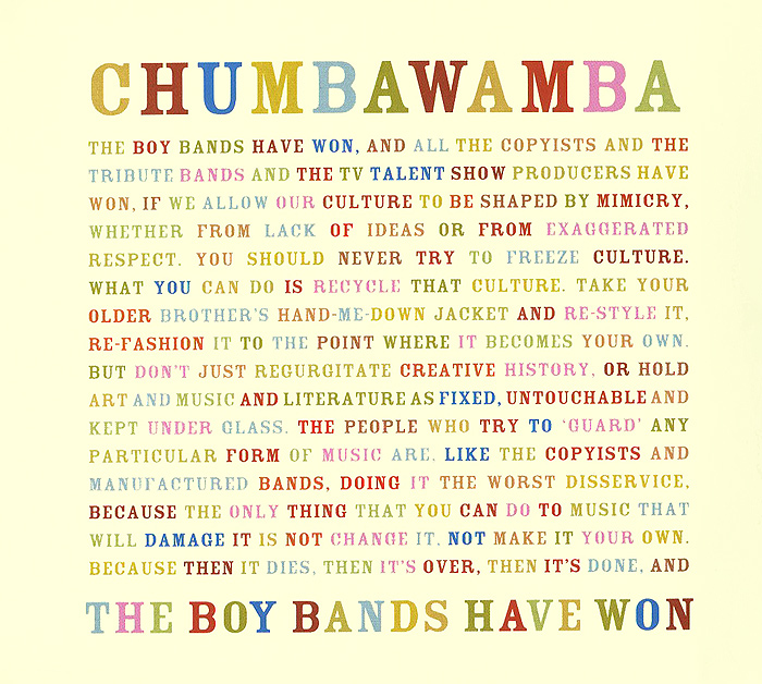 Chumbawamba Chumbawamba. The Boy Bands Have Won майка борцовка print bar новогодние игрушки