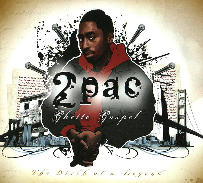 Тупак Шакур 2PAC. Ghetto Gospel. The Birth of a Legend лонгслив printio тупак шакур 2pac