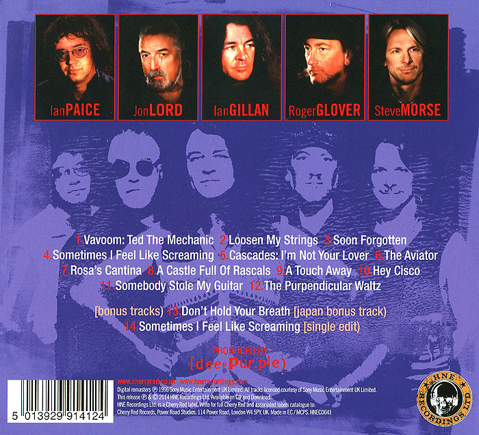 Deep Purple.  Purpendicular Волтэкс-инвест