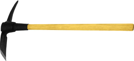 Кирка FIT, 910 мм44472Кирка FIT предназначена для разрыхления твердого грунта. Рабочая поверхность выполнена из штампованной инструментальной стали, а рукоятка - из дерева.