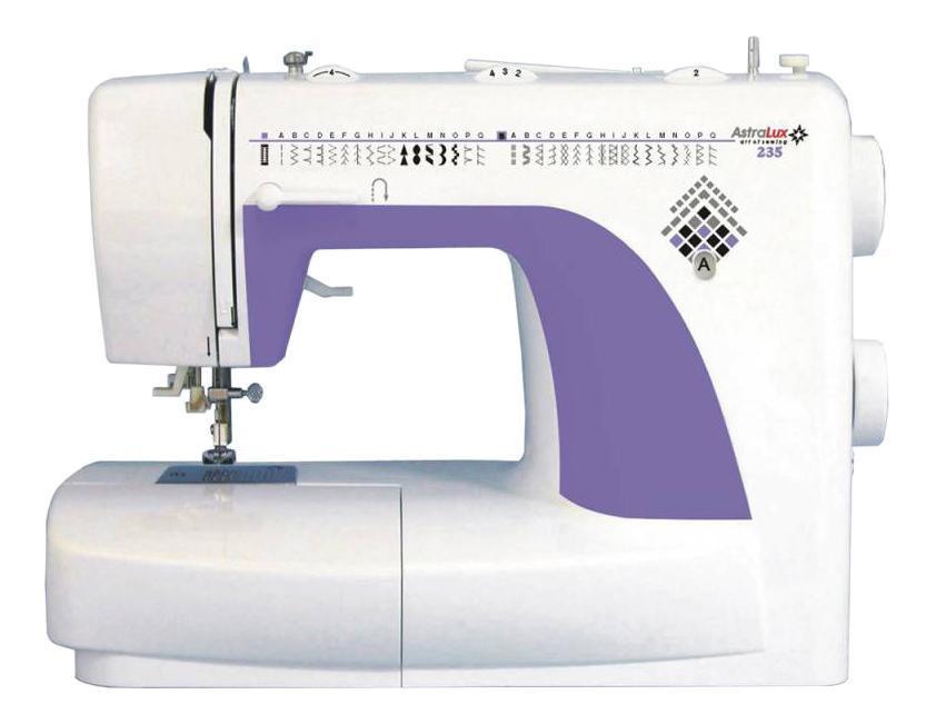 Astralux 235 швейная машинка235Расширенные возможности: рабочие операции, эластичные строчки для трикотажных тканей, большое количество декоративных и оверлочных строчек, потайная подшивка низа, квилтинг и пэтчворки т.д.