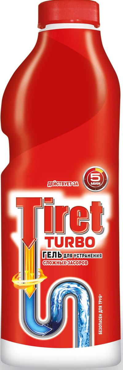 Гель для удаления засоров Tiret Turbo, 1 л7506511Чистящее средство Tiret Turbo предназначено для очистки канализационных труб. Гель устраняет засоры в трубах за 5 минут, а также дезинфицирует. Безопасен для всех металлических и пластиковых труб. Характеристики: Объем: 1 л. Изготовитель: Россия.Товар сертифицирован.