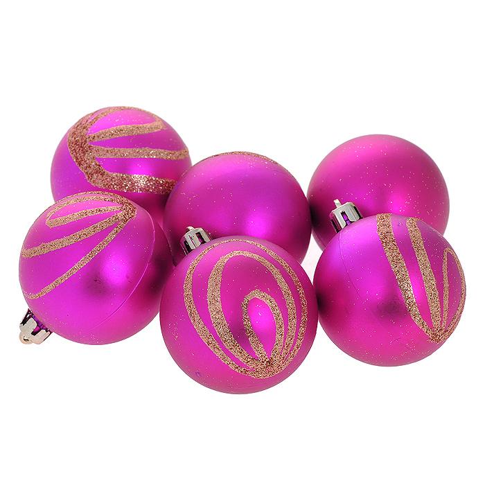 Набор новогодних подвесных украшений Шар, цвет: розовый, диаметр 6 см, 6 шт. 3555035550Набор новогодних подвесных украшений Шар прекрасно подойдет для праздничного декора новогодней ели. Состоит из шести шаров.Елочная игрушка - символ Нового года. Она несет в себе волшебство и красоту праздника. Создайте в своем доме атмосферу веселья и радости, украшая новогоднюю елку нарядными игрушками, которые будут из года в год накапливать теплоту воспоминаний. Коллекция декоративных украшений принесет в ваш дом ни с чем несравнимое ощущение волшебства! Откройте для себя удивительный мир сказок и грез. Почувствуйте волшебные минуты ожидания праздника, создайте новогоднее настроение вашим дорогим и близким.