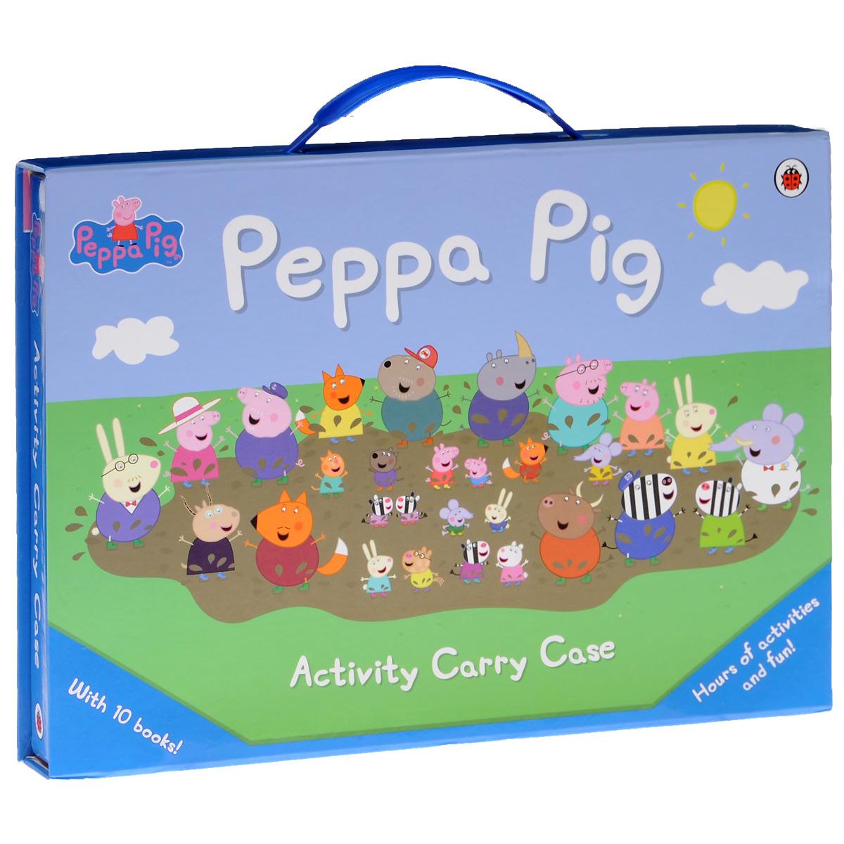 Peppa Pig: Activity Carry Case (комплект из 10 книг) play big конструктор peppa pig железнодорожная станция