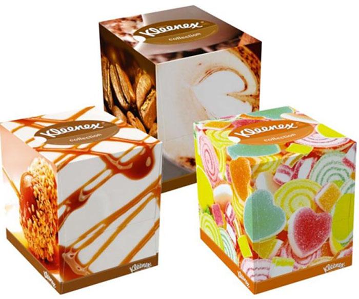 """Kleenex Салфетки в коробке """"Collection"""", универсальные, 100 шт, в ассортименте"""