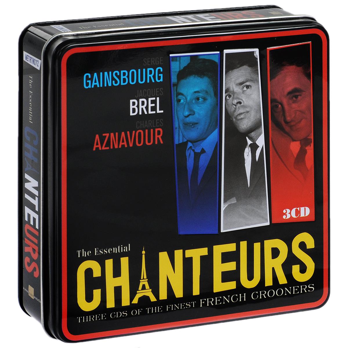 Жак Брель,Шарль Азнавур,Серж Генсбур The Essential Chanteurs (3 CD) душевой трап pestan square 3 150 мм 13000007