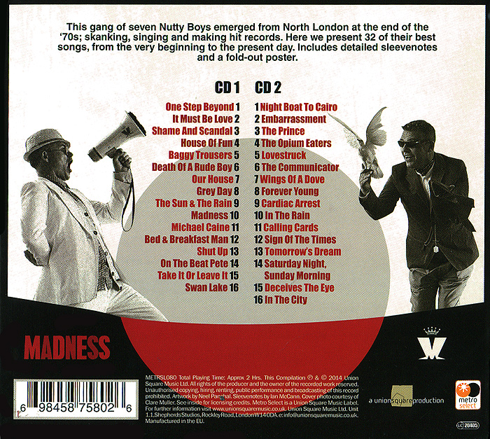 Madness.  The Very Best Of (2 CD) Волтэкс-инвест,Union Square Music Ltd.