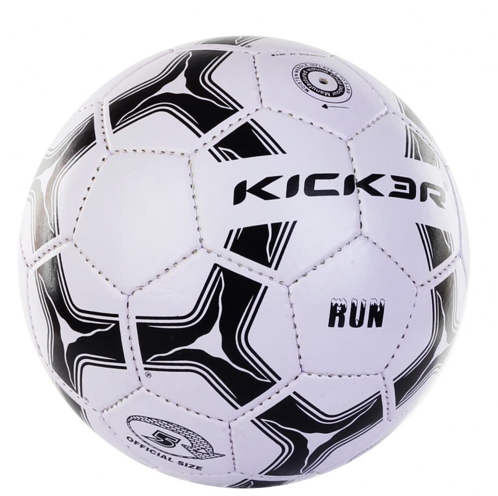 Мяч футбольный Larsen Kicker Run. Размер 51319Футбольный мяч Larsen Kicker Run подойдет для игры на улице. Он выполнен из синтетической кожи и ПВХ. Матовая поверхность. Имеет 4 слоя подкладочного материала - 2 слоя поликоттон и 2 хлопок. Ручная сшивка. 32 панели. Камера выполнена из латекса, с бутиловым ниппелем.Окружность: 68-69 см. УВАЖАЕМЫЕ КЛИЕНТЫ!Просим обратить ваше внимание на тот факт, что мяч поставляется в сдутом состоянии и надувается при помощи насоса (насос не входит (входит) в комплект).