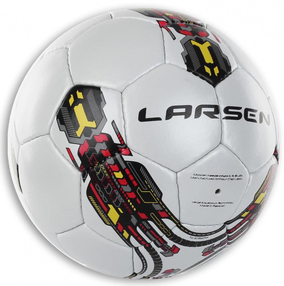 Мяч футбольный Larsen Futsal Sala. Размер 331944Футбольный мяч Larsen Futsal Sala подойдет для игры на всех покрытиях. Он выполнен из синтетической кожи и полиуретана. Матовая поверхность. Имеет 3 слоя подкладочного материала - 2 слоя поликоттон и 1 хлопок. Ручная сшивка. 32 панели. Камера выполнена из латекса с наполнителем из полиэстера.Окружность: 63,5-66 см .
