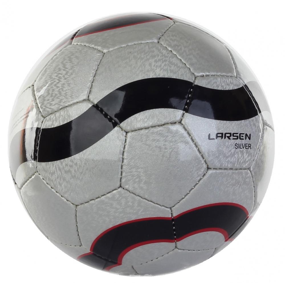 """Мяч футбольный Larsen """"Lux"""", цвет: серебряный. Размер 5"""