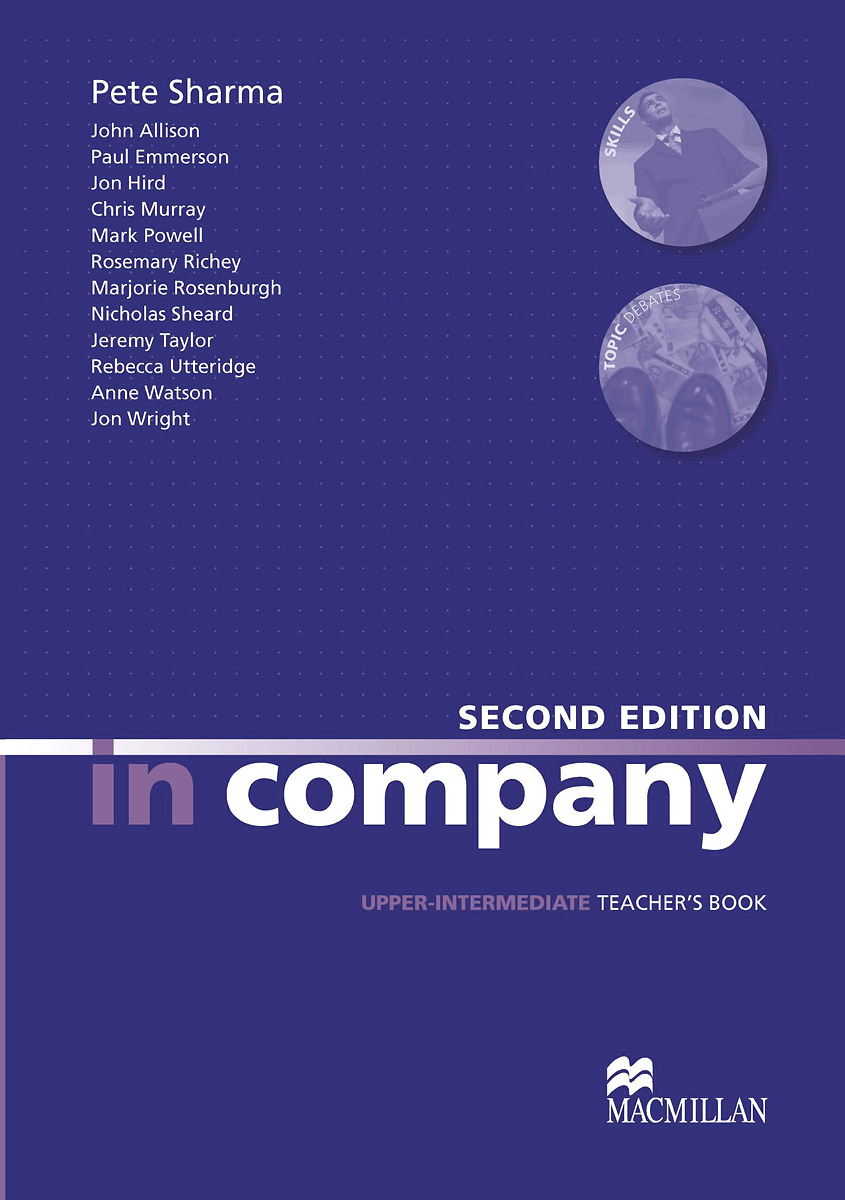 In Company: Upper Intermediate: Teacher's Book brook hart g clark d business benchmark 2nd edition upper intermediate bulats and business vantage teacher s resource book