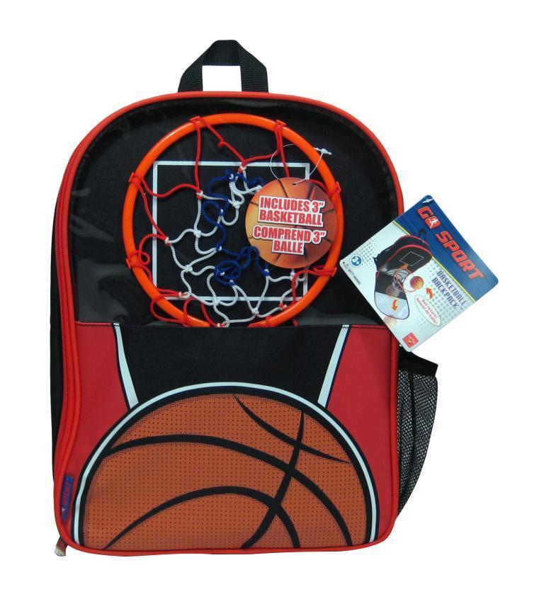 Рюкзак детский Баскетбол. А1525ХХА1525ХХВместительный школьный Рюкзак детский, который не даст скучать на переменке! он легко превращается в щит с баскетбольным кольцом и сеткой, его можно разместить на любой дверной ручке или крючке, мяч входит в комплект! также есть специальная встроенная укрепленная панель, которая позволит мячику отталкиваться и возвращаться обратно. таким образом у юного спортсмена всегда с собой целая баскетбольная площадка ! Рюкзак детский оснащен длинной ручкой, для удобного крепления на вертикальной поверхности, большим отделением для складирования школьных принадлежностей, специальным карманом для ношения бутылки с водой, отдельным кармашком для плеера. Можно использовать и для походов...