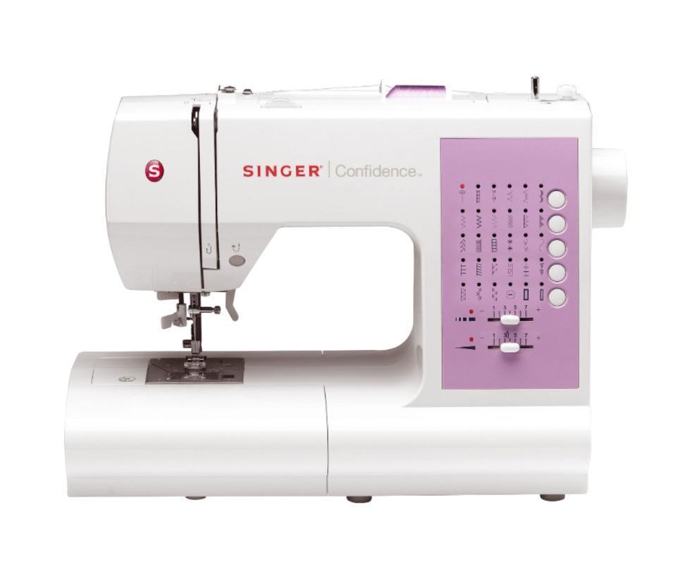 Singer 74637463Начальная модель в линейке компьютеризированных швейных машин серии Confidence. Швейная машинка SINGER Confidence 7463 обладает простым и наглядным выбором строчек, нитевдевателем и современным горизонтальным челноком. Выполняет 30 швейных операций.