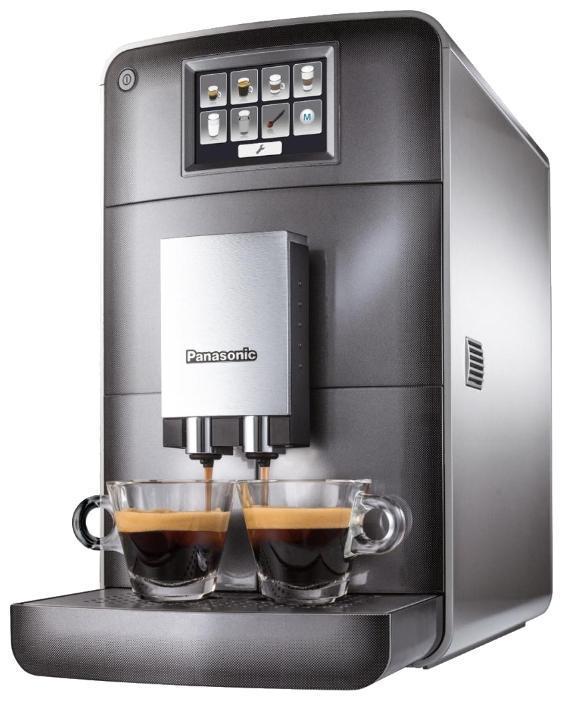 Panasonic NC-ZA1HTQ кофемашинаNC-ZA1HTQАвтоматическая кофемашина Panasonic NC-ZA1HTQ.Полностью автоматическое приготовление различных рецептов кофе:От крепкого эспрессо до сливочного капучино и американо. Всего одним нажатием Вы получаете идеальное сочетание свежемолотого кофе, вспененного молока и горячей воды! Настоящий вкус без лишней усилий. От компании Panasonic — для истинных ценителей кофе.Компактные размеры, все элементы управления на передней панели:Кофемашина Panasonic NC-ZA1HTQ имеет выдвижной каплесборник. Удобная конструкция позволяет легко извлекать все компоненты (резервуар для воды, контейнер для использованного кофе и блок заваривания) благодаря фронтальной загрузке. Гладкая и ровная тыльная сторона агрегата обеспечивает максимальную экономию места при расположении у стены. Кофемашина оснащена сенсорным цветным LED дисплеем управления, который позволяет готовить действительно вкусный кофе.Кофемолка с регулировкой тонкости помола:Для приготовления идеального кофе требуется равномерный помол зерен. Применение закаленной стали позволяет сохранить насыщенный, богатый и устойчивый аромат каждого кофейного зернышка.Пользовательские программы:В памяти можно сохранять до четырех комбинаций настроек крепости и объема кофе, а также соотношения кофе, молока и молочной пены. Одно нажатие — и Вы получаете напиток с желаемым вкусом. Теперь каждый член семьи сможет наслаждаться своим любимым кофе. Вы можете выбрать желаемый объем вспененного молока в соответствии с видом кофе и личными предпочтениями (доступно 4 настройки).Подсветка чашки и регулировка высоты подачи кофе:Светодиодная подсветка не только придает завершенность изысканному дизайну, но и делает удобным ее использование.Регулировка высоты позволяет использовать чашки разного размера: от небольшой кофейной чашечки кофемашины, до высокой кружки.Идеально вписывается в интерьер любой кухни:Для очистки внутренних элементов и емкостей требуется доступ только к передней панели прибора, поэтому кофемашину можн