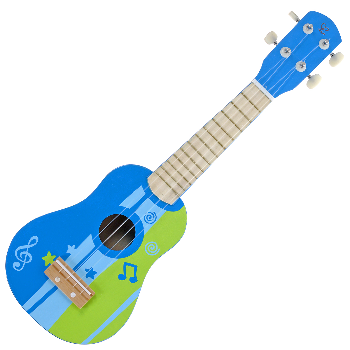 Hape Игрушка деревянная Гитара, цвет: синий, салатовый. Е0316 hape деревянная игрушка пазл счастливые часы