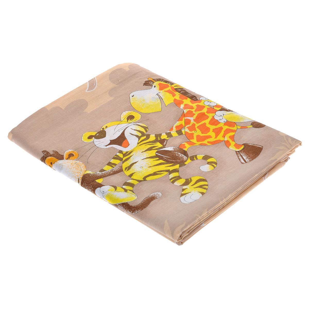 Комплект детского постельного белья Африка, цвет: бежевый, 3 предмета331/4Комплект детского постельного белья Африка, состоящий из наволочки, простыни и пододеяльника, выполнен из натурального хлопка и оформленный авторским рисунком с изображениями веселых танцующих зверят. Хлопок - это натуральный материал, который не раздражает даже самую нежную и чувствительную кожу малыша, не вызывает аллергии и хорошо вентилируется. Такой комплект идеально подойдет для кроватки вашего малыша. На нем ваш кроха будет спать здоровым и крепким сном.