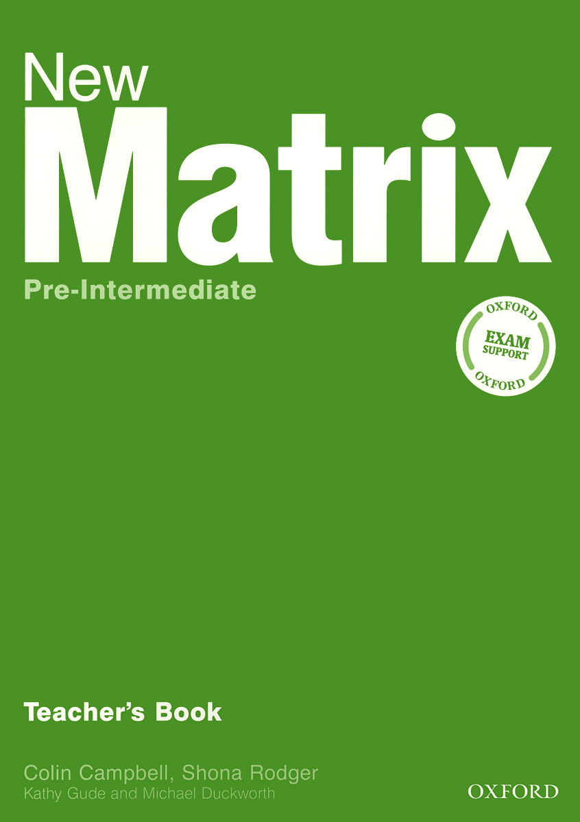New Matrix Pre-intermediate: Teacher's Book total english pre intermediate students book dvd rom