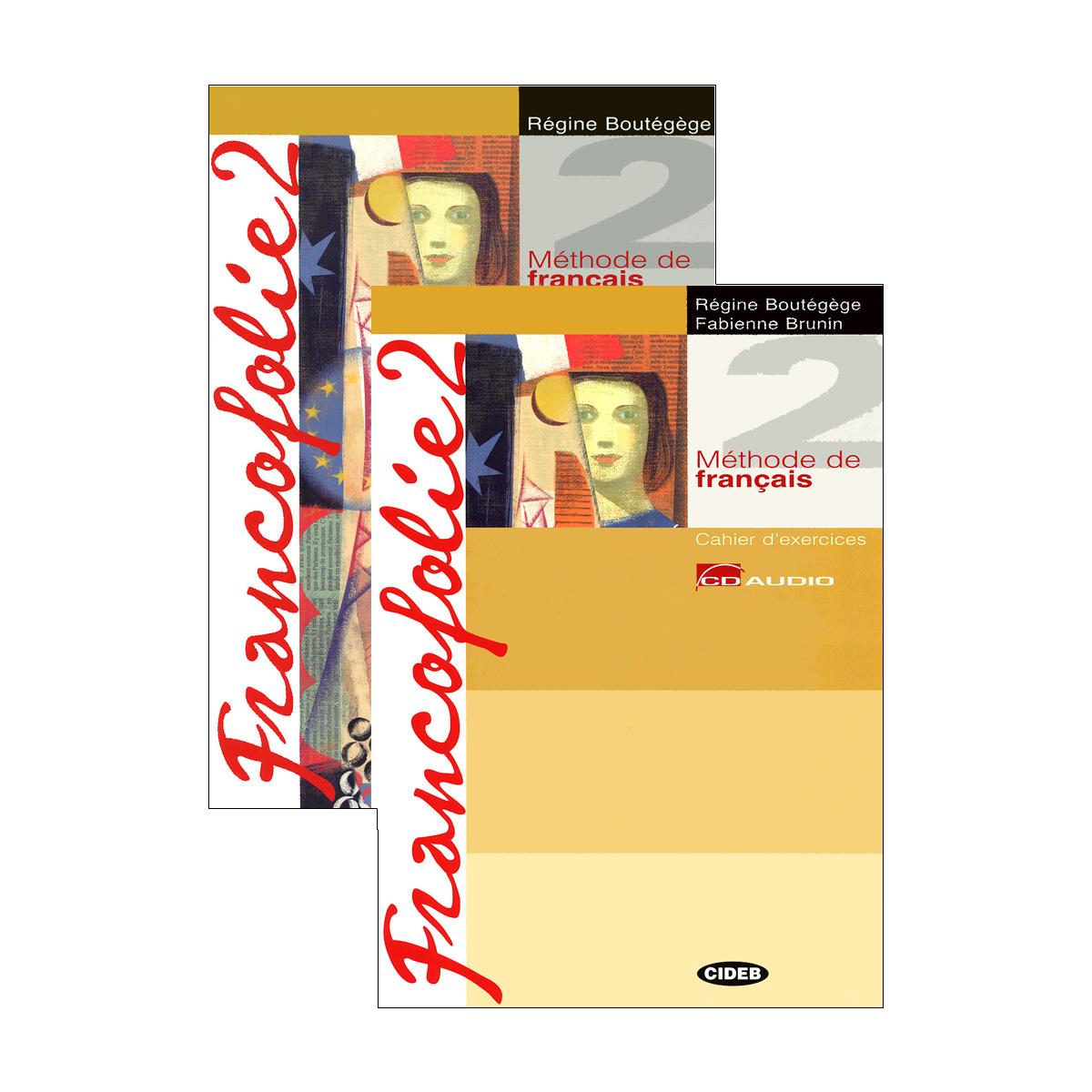 Francofolie 2: Livre de l'eleve. Cahier d'exercices (комплект из 2 книг + Portfolio, 2 CD, 1 CD-ROM) trait d union 2 methode de francais pour migrants insertion professionnelle cd