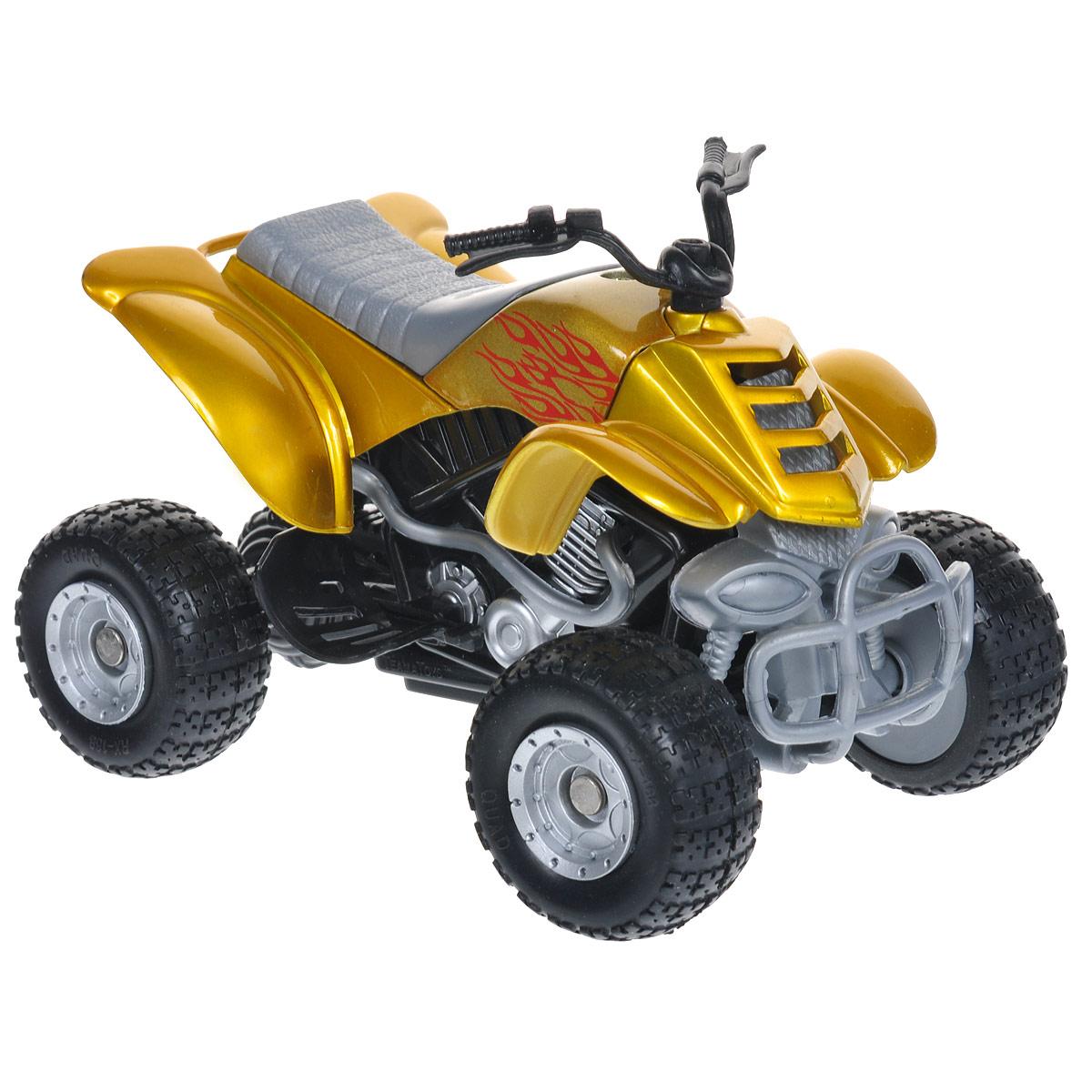 Autotime Коллекционная модель Мотоцикл Quadrobike Fire, цвет: желтый для квадроцикла