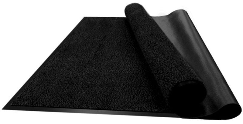 Коврик придверный Vortex Профи, влаговпитывающий, цвет: черный, 90 х 120 см22128Влаговпитывающий придверный коврик Vortex Профи выполнен из ПВХ и полиэстера. Он прост в обслуживании, прочный и устойчивый к различным погодным условиям. Лицевая сторона коврика мягкая. Прорезиненная основа предотвращает его скольжение по гладкой поверхности и обеспечивает надежную фиксацию. Такой коврик надежно защитит помещение от уличной пыли и грязи.