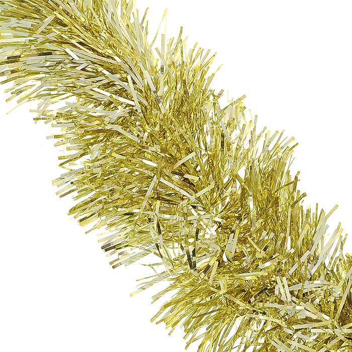 Мишура новогодняя Magic Time, цвет: золотистый, диаметр 7 см, длина 200 см. 3489034890Новогодняя мишура Magic Time, выполненная из ПЭТ (Полиэтилентерефталат), поможет вам украсить свой дом к предстоящим праздникам. Изделие выполнено в виде скрученной косички. Новогодняя елка с таким украшением станет еще наряднее. Мишура армирована, то есть имеет проволоку внутри и способна сохранять форму. Новогодней мишурой можно украсить все, что угодно - елку, квартиру, дачу, офис - как внутри, так и снаружи. Можно сложить новогодние поздравления, буквы и цифры, мишурой можно украсить и дополнить гирлянды, можно выделить дверные колонны, оплести дверные проемы. Коллекция декоративных украшений из серии Magic Time принесет в ваш дом ни с чем несравнимое ощущение волшебства! Создайте в своем доме атмосферу тепла, веселья и радости, украшая его всей семьей.
