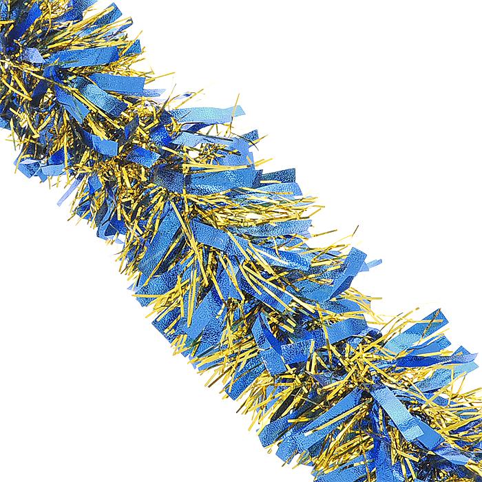 Мишура новогодняя Magic Time, цвет: синий, золотистый, диаметр 9 см, длина 200 см. 3488920350Новогодняя мишура Magic Time, выполненная из ПЭТ (Полиэтилентерефталат), поможет вам украсить свой дом кпредстоящим праздникам. Изделие выполнено в виде скрученной косички. Новогодняя елка с таким украшениемстанет еще наряднее. Мишура армирована, то есть имеет проволоку внутри и способна сохранять форму. Новогодней мишурой можно украсить все, что угодно - елку, квартиру, дачу, офис - как внутри, так и снаружи.Можно сложить новогодние поздравления, буквы и цифры, мишурой можно украсить и дополнить гирлянды, можновыделить дверные колонны, оплести дверные проемы. Коллекция декоративных украшений из серии Magic Time принесет в ваш дом ни с чем несравнимое ощущениеволшебства! Создайте в своем доме атмосферу тепла, веселья и радости, украшая его всей семьей.