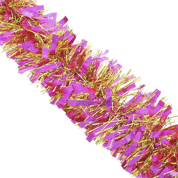 Мишура новогодняя Magic Time, цвет: розовый, золотистый, диаметр 9 см, длина 200 см. 3488825060Новогодняя мишура Magic Time, выполненная из ПЭТ (Полиэтилентерефталат), поможет вам украсить свой дом кпредстоящим праздникам. Изделие выполнено в виде скрученной косички. Новогодняя елка с таким украшениемстанет еще наряднее. Мишура армирована, то есть имеет проволоку внутри и способна сохранять форму. Новогодней мишурой можно украсить все, что угодно - елку, квартиру, дачу, офис - как внутри, так и снаружи.Можно сложить новогодние поздравления, буквы и цифры, мишурой можно украсить и дополнить гирлянды, можновыделить дверные колонны, оплести дверные проемы. Коллекция декоративных украшений из серии Magic Time принесет в ваш дом ни с чем несравнимое ощущениеволшебства! Создайте в своем доме атмосферу тепла, веселья и радости, украшая его всей семьей.