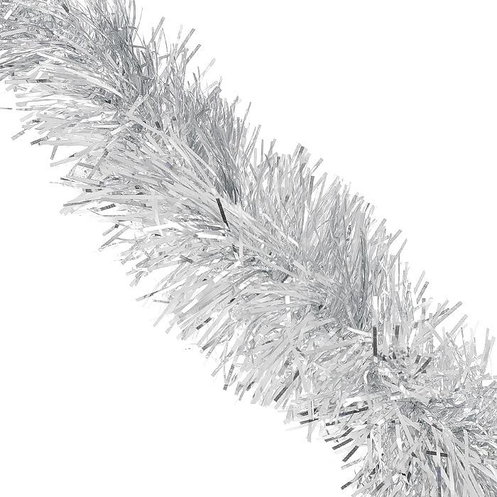 Мишура новогодняя Magic Time, цвет: серебристый, диаметр 7 см, длина 200 см. 3489134891Новогодняя мишура Magic Time, выполненная из ПЭТ (Полиэтилентерефталат), поможет вам украсить свой дом к предстоящим праздникам. Изделие выполнено в виде скрученной косички. Новогодняя елка с таким украшением станет еще наряднее. Мишура армирована, то есть имеет проволоку внутри и способна сохранять форму. Новогодней мишурой можно украсить все, что угодно - елку, квартиру, дачу, офис - как внутри, так и снаружи. Можно сложить новогодние поздравления, буквы и цифры, мишурой можно украсить и дополнить гирлянды, можно выделить дверные колонны, оплести дверные проемы. Коллекция декоративных украшений из серии Magic Time принесет в ваш дом ни с чем несравнимое ощущение волшебства! Создайте в своем доме атмосферу тепла, веселья и радости, украшая его всей семьей.